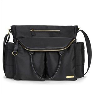 SkipHop black Chelsea diaper bag